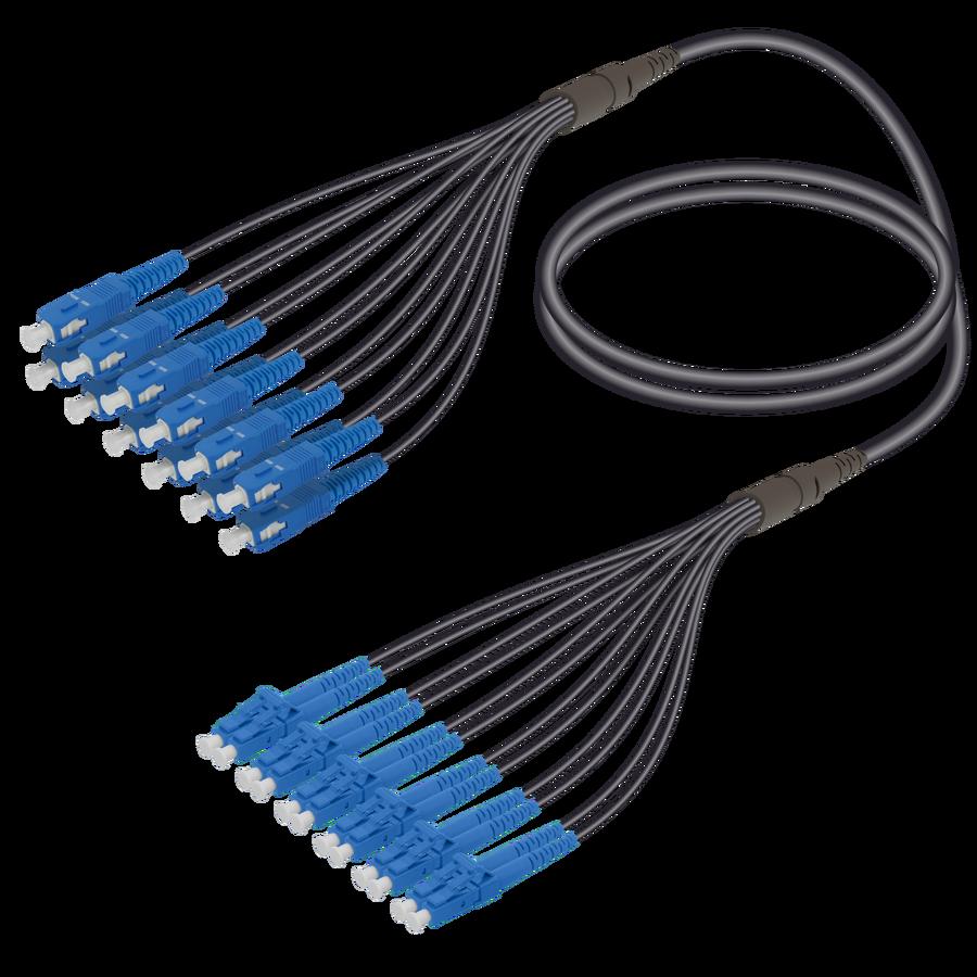 Samm Teknoloji - SC/UPC-LC/UPC | 12 Fiber Universal Fanout | Single Mode G657.A2 | 4.8/1.8mm