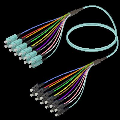 Samm Teknoloji - SC/UPC-LC/UPC | 12 Fibers Fanout | Multi Mode G651.OM3 | 3.0/0.9mm