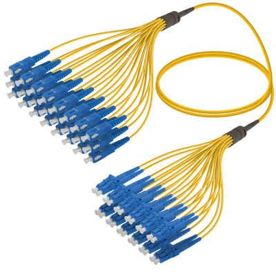 Samm Teknoloji - SC/UPC-LC/UPC | 24 Fiber Fanout | Single Mode G657.A2 | 3.0/1.8mm