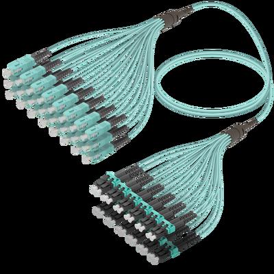 Samm Teknoloji - SC/UPC-LC/UPC | 24 Fibers Fanout | Multi Mode G651.OM3 | 3.0/1.8mm