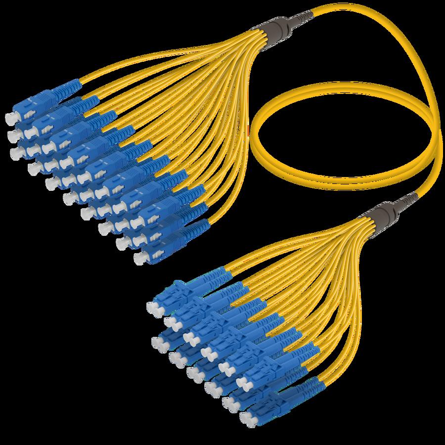 SC/UPC-LC/UPC | 24 Fibers Fanout | Single Mode G657.A2 | 3.0/1.8mm