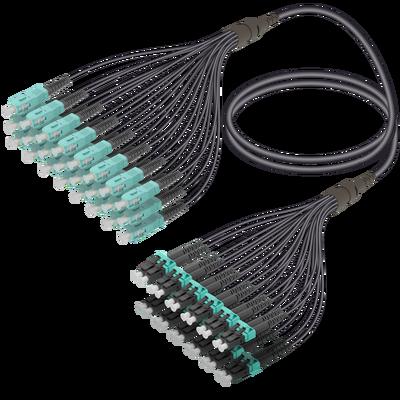 SC/UPC-LC/UPC | 24 Fibers Universal Fanout | Multi Mode G651.OM3 | 4.8/1.8mm
