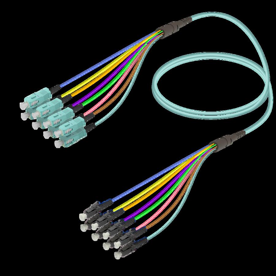 Samm Teknoloji - SC/UPC-LC/UPC | 8 Fiber Fanout | Multi Mode G651.OM3 | 3.0/0.9mm
