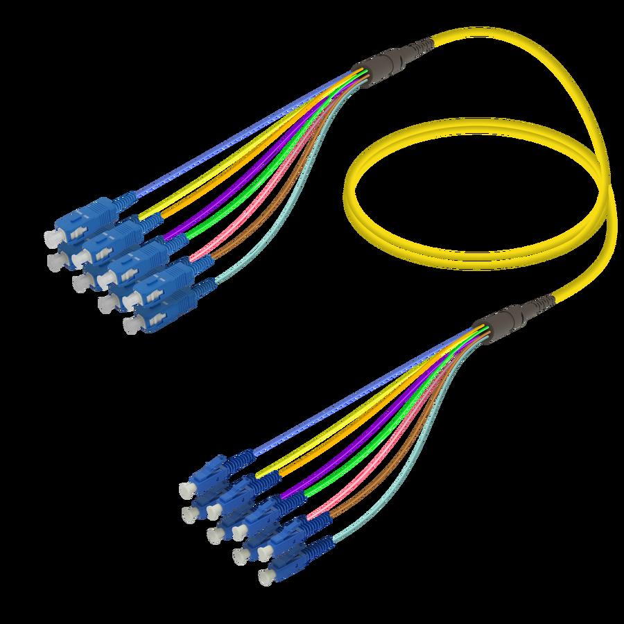 Samm Teknoloji - SC/UPC-LC/UPC | 8 Fiber Fanout | Single Mode G657.A2 | 3.0/0.9mm