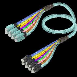 Samm Teknoloji - SC/UPC-LC/UPC | 8 Fibers Fanout | Multi Mode G651.OM3 | 3.0/0.9mm