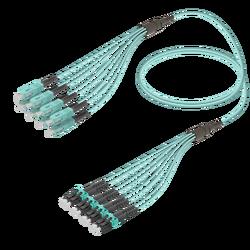 Samm Teknoloji - SC/UPC-LC/UPC | 8 Fibers Fanout | Multi Mode G651.OM3 | 3.0/1.8mm