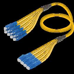 Samm Teknoloji - SC/UPC-LC/UPC | 8 Fibers Fanout | Single Mode G657.A2 | 3.0/1.8mm