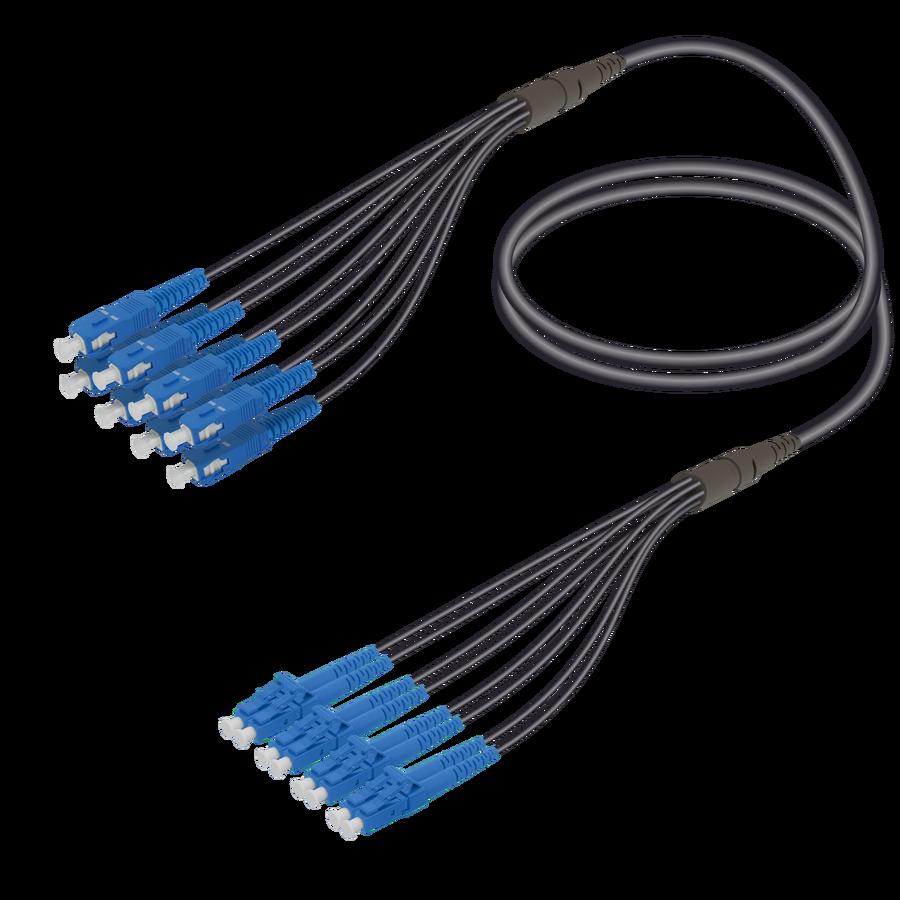 Samm Teknoloji - SC/UPC-LC/UPC | 8 Fibers Universal Fanout | Single Mode G657.A2 | 4.8/1.8mm