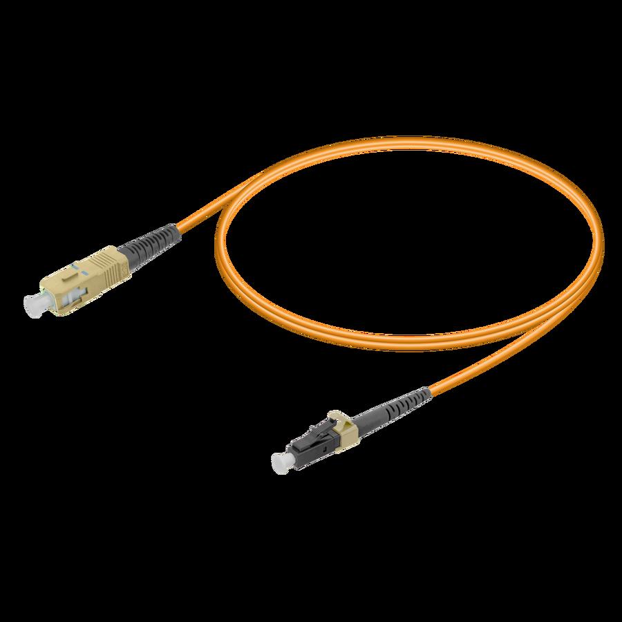 Samm Teknoloji - SC/UPC-LC/UPC | Multi Mode G651.OM1 Simplex Patch Cord | 2.0mm