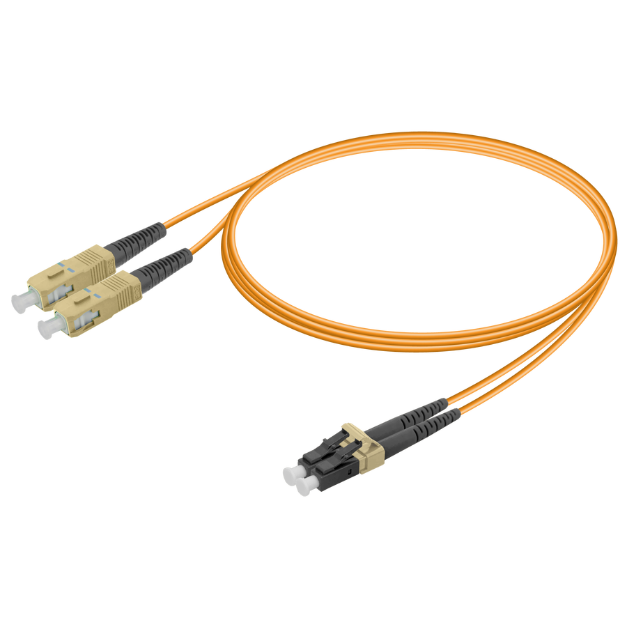 SC/UPC-LC/UPC | Multi Mode G651.OM2 Duplex Patch Cord | 2.0x4.1mm