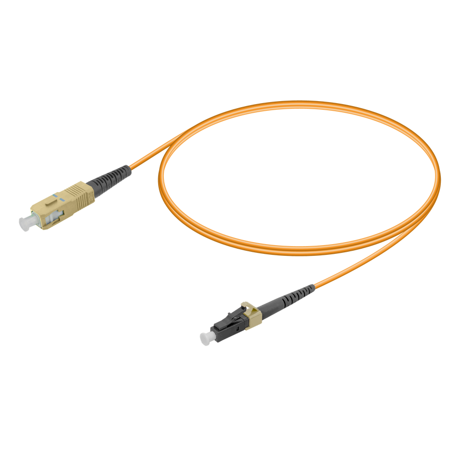 SC/UPC-LC/UPC | Multi Mode G651.OM2 Simplex Patch Cord | 2.0mm
