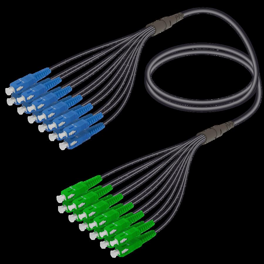 Samm Teknoloji - SC/UPC-SC/APC | 12 Fiber Universal Fanout | Single Mode G657.A2 | 4.8/1.8mm