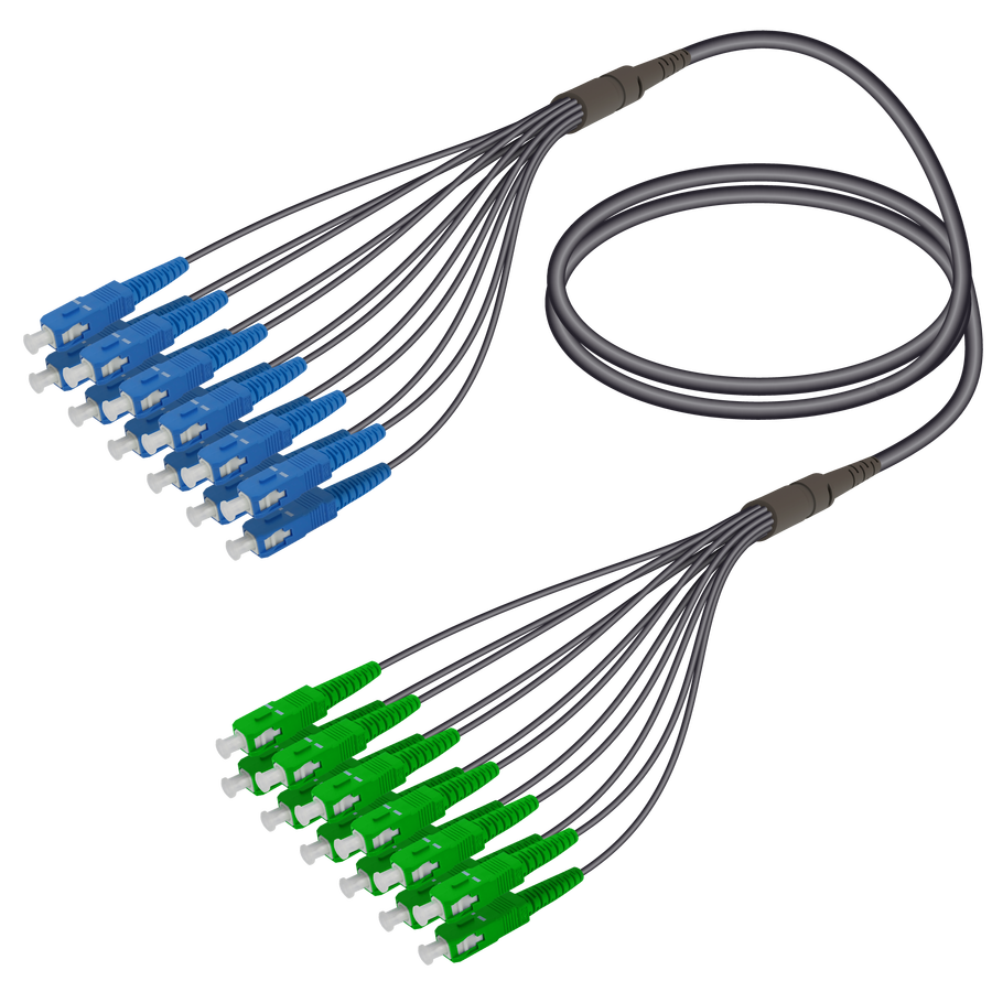 Samm Teknoloji - SC/UPC-SC/APC | 12 Fibers Universal Fanout | Single Mode G657.A2 | 4.8/1.8mm