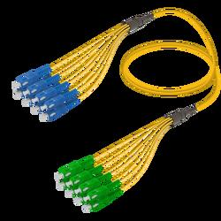 Samm Teknoloji - SC/UPC-SC/APC | 8 Fiber Fanout | Single Mode G657.A2 | 3.0/1.8mm
