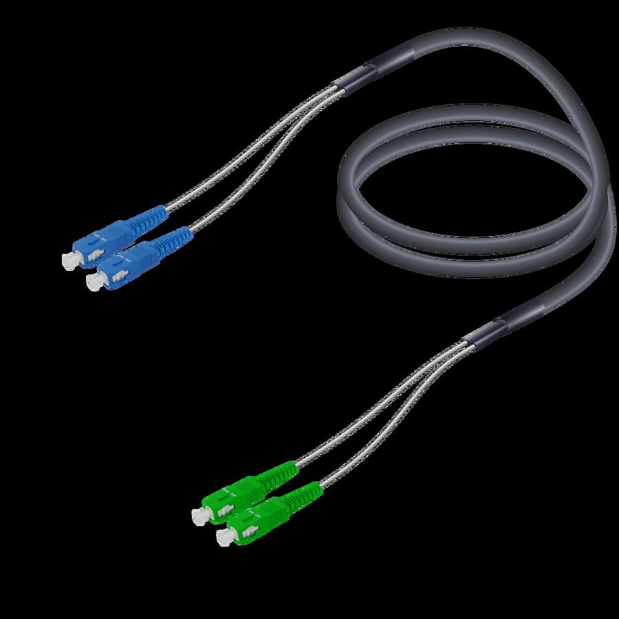 Samm Teknoloji - SC/UPC-SC/APC   Single Mode G657.A2 Çelik Korugeli Breakout   7.0x2.85mm