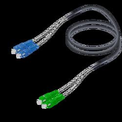 Samm Teknoloji - SC/UPC-SC/APC | Single Mode G657.A2 Çelik Korugeli Breakout | 7.0x2.85mm
