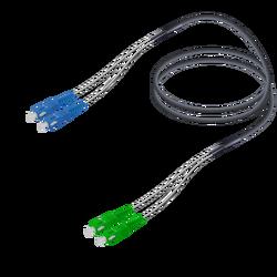 Samm Teknoloji - SC/UPC-SC/APC | Single Mode G657.A2 Çelik Korugeli Breakout | 4.8x2.85mm