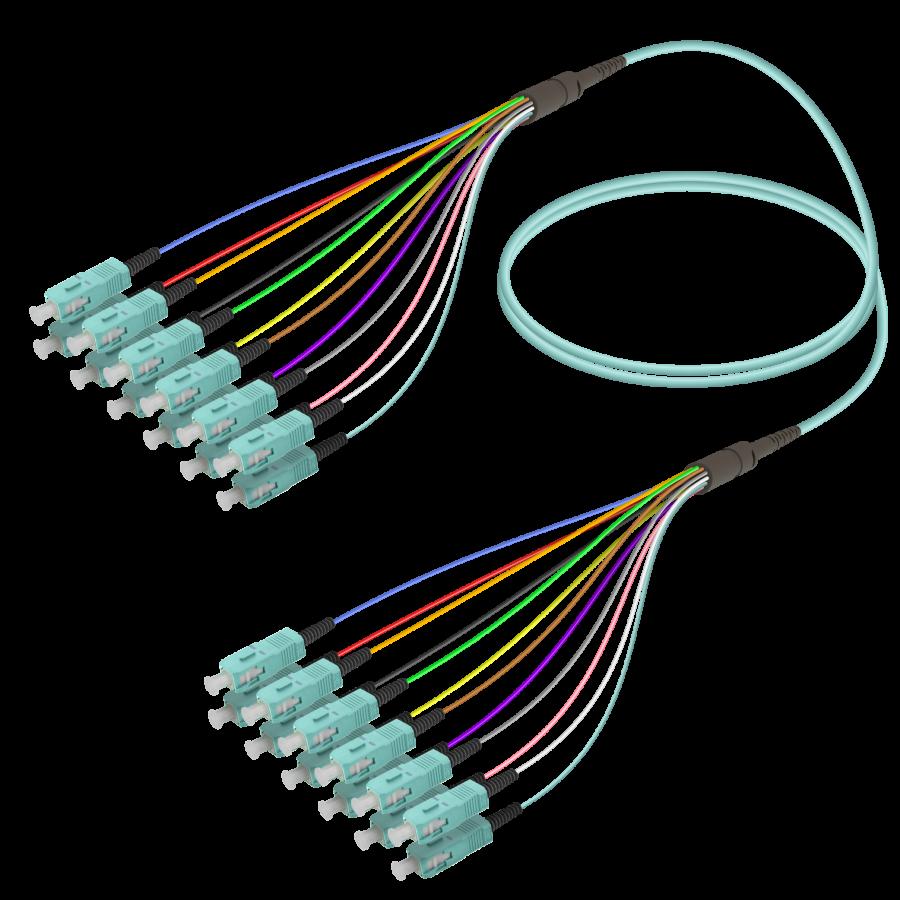 Samm Teknoloji - SC/UPC-SC/UPC | 12 Fiber Fanout | Multi Mode G651.OM3 | 3.0/0.9mm