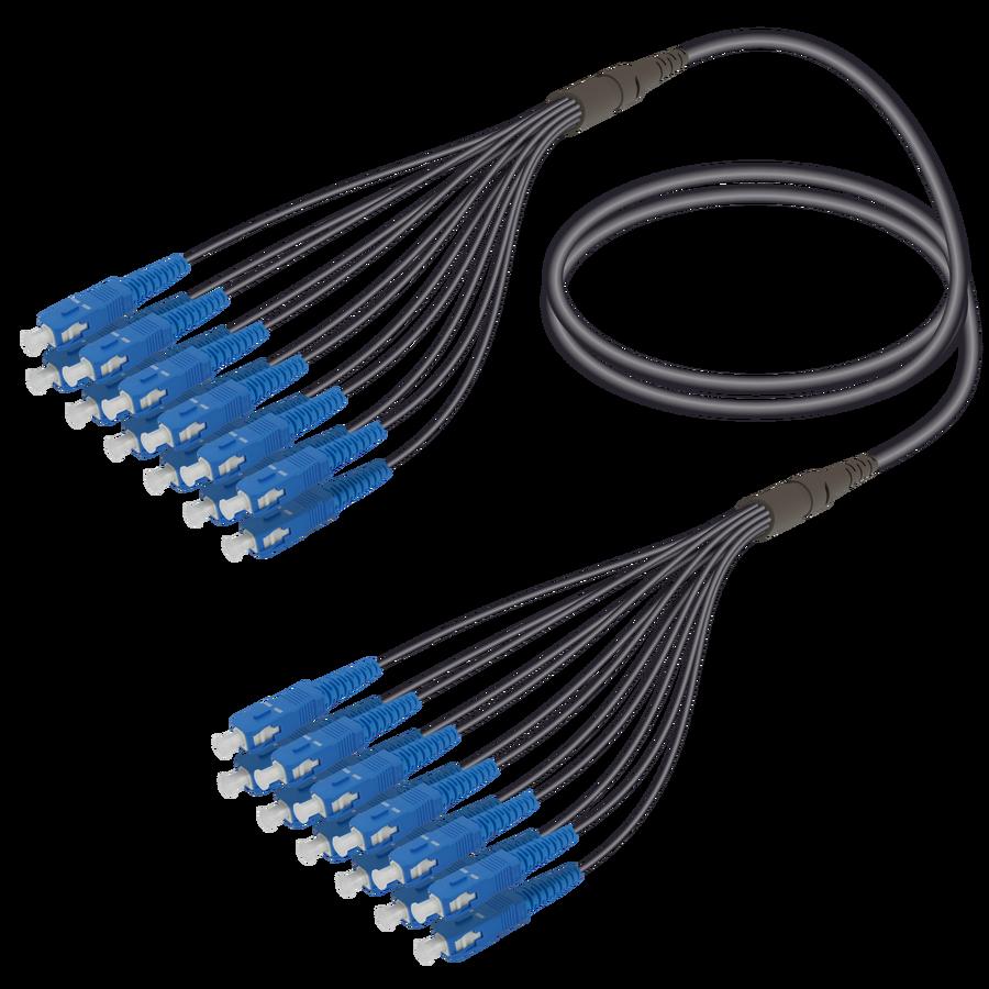Samm Teknoloji - SC/UPC-SC/UPC | 12 Fiber Universal Fanout | Single Mode G657.A2 | 4.8/1.8mm
