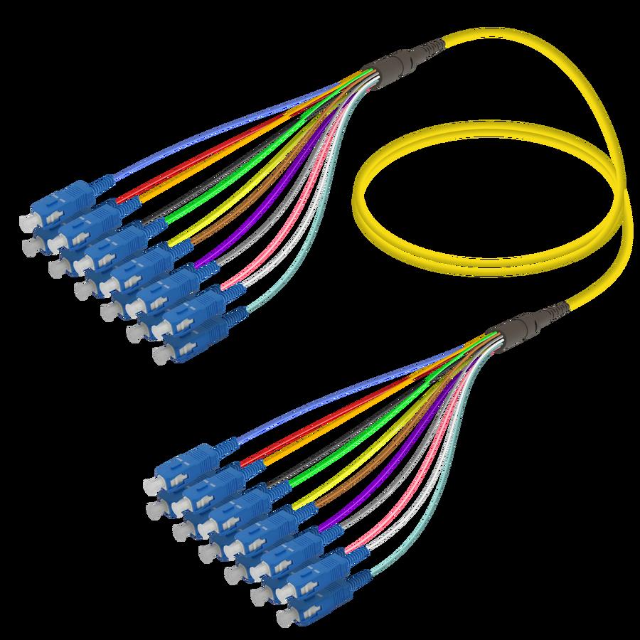 SC/UPC-SC/UPC | 12 Fibers Fanout | Single Mode G657.A2 | 3.0/0.9mm