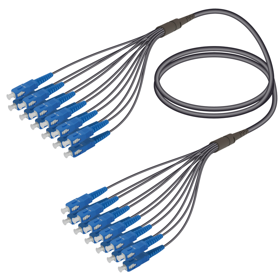 Samm Teknoloji - SC/UPC-SC/UPC | 12 Fibers Universal Fanout | Single Mode G657.A2 | 4.8/1.8mm
