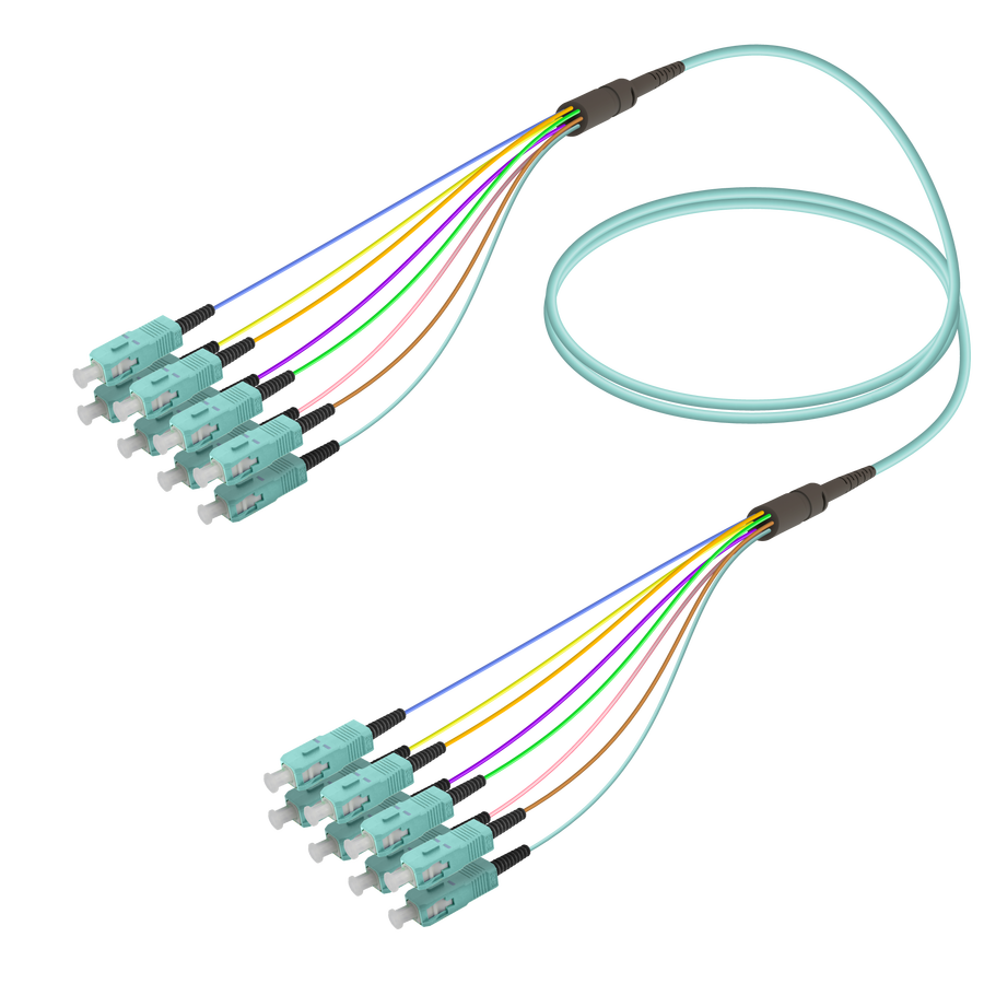 Samm Teknoloji - SC/UPC-SC/UPC | 8 Fiber Fanout | Multi Mode G651.OM3 | 3.0/0.9mm