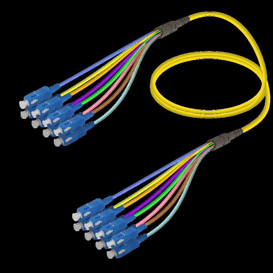 Samm Teknoloji - SC/UPC-SC/UPC | 8 Fiber Fanout | Single Mode G657.A2 | 3.0/0.9mm
