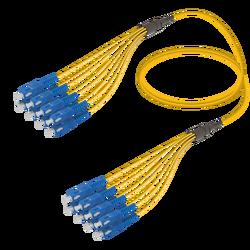 Samm Teknoloji - SC/UPC-SC/UPC | 8 Fiber Fanout | Single Mode G657.A2 | 3.0/1.8mm