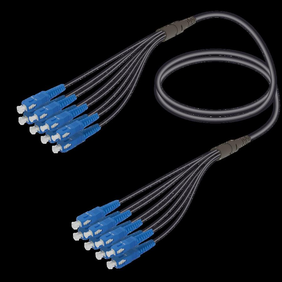 Samm Teknoloji - SC/UPC-SC/UPC | 8 Fibers Universal Fanout | Single Mode G657.A2 | 4.8/1.8mm
