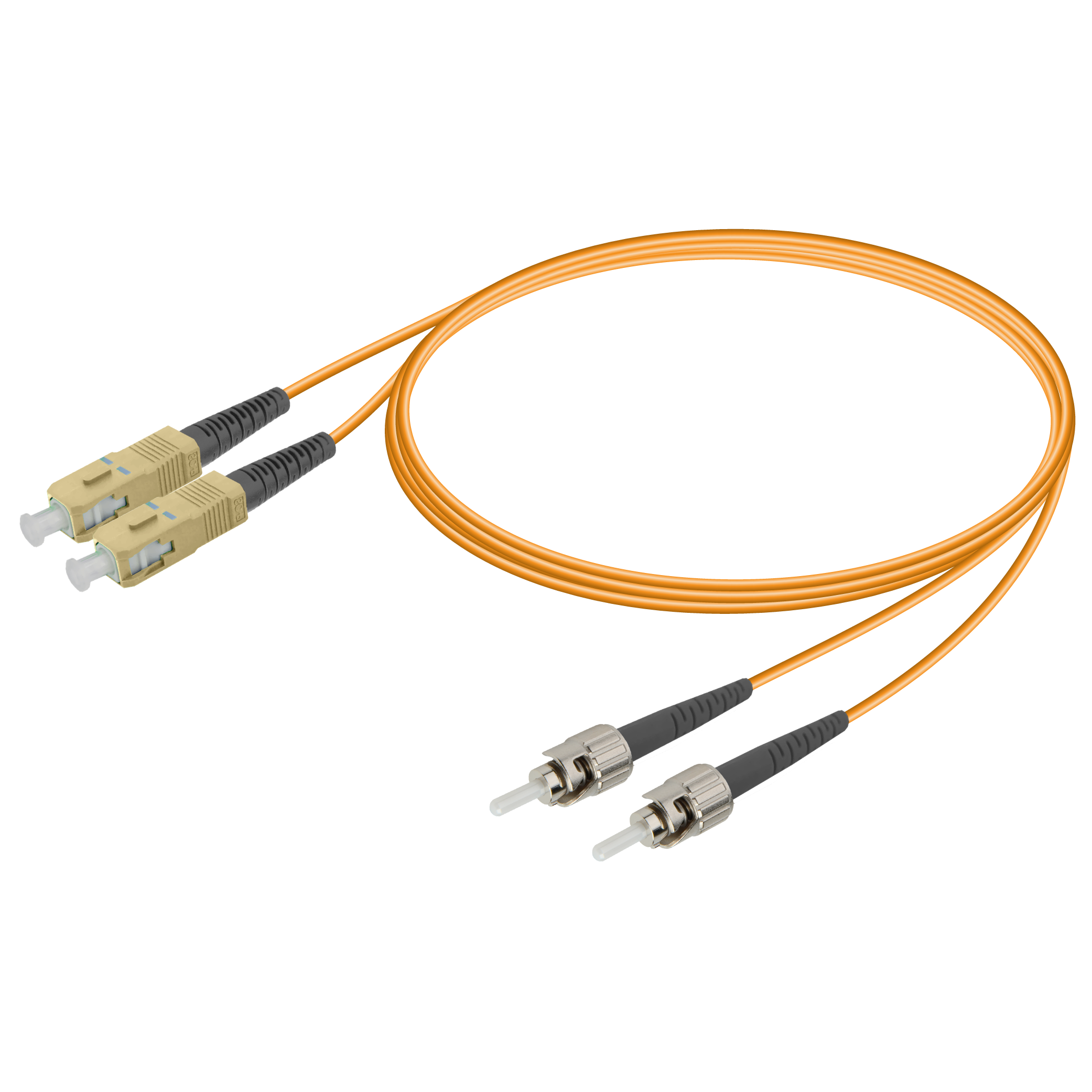 Samm Teknoloji - SC/UPC-ST/UPC | Multi Mode G651.OM1 Duplex Patch Cord | 2.0x4.1mm