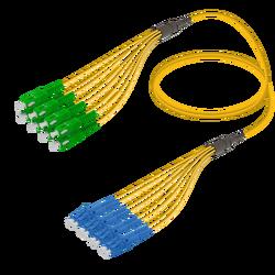 Samm Teknoloji - SC/APC-LC/UPC | 8 Fibers Fanout | Single Mode G657.A2 | 3.0/1.8mm