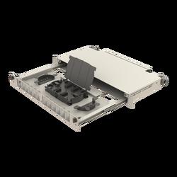 Samm Teknoloji - Teleskopik Raylı Açılı | 1U Fiber Patch Panel | 12 Yuva | EFP51 (1)